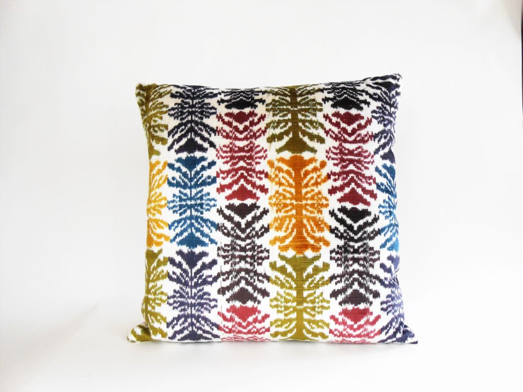 silk vevlet ikat pillow