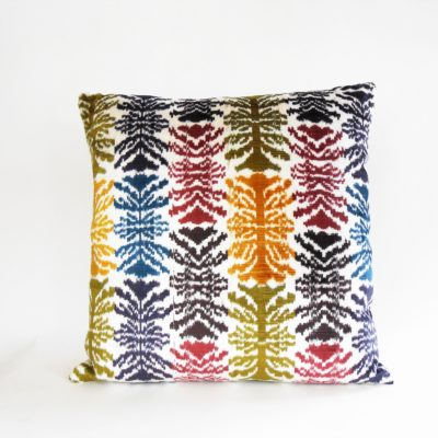 silk vevlet ikat pillow
